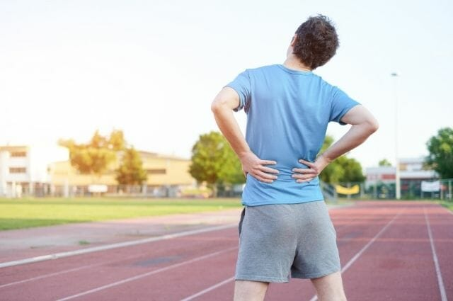 a man with painful slipped disc